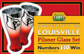 University of Louisville Pilsner Glass Set