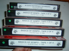 BASICS OF KENPO VOL 1-4 & #2 TECHNIQUES W/ TRACY   (VHS VIDEO)