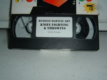 RUSSIAN MARTIAL ART - KNIFE FIGHTING & THROWING W/ UPDIKE   (VHS VIDEO)