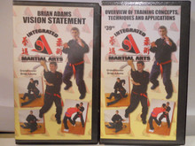 INTEGRATED MARTIAL ARTS PTS 1 & 2 W/ ADAMS (VHS VIDEO)
