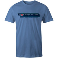 The three color imprint of the Packard Info logo on a Hanes Tagless T-Shirt, 6.1 oz. 100% preshrunk ComfortSoft® cotton.