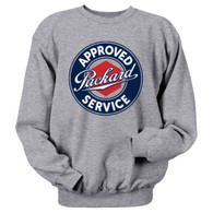 A three color design on a Athletic Heather Gray Jerzees Sweatshirt 8 oz. 50% cotton, 50% polyester preshrunk fleece.