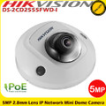 Hikvision DS-2CD2555FWD-I 5MP 2.8mm fixed lens 10m IR PoE IP Network Mini Dome Camera