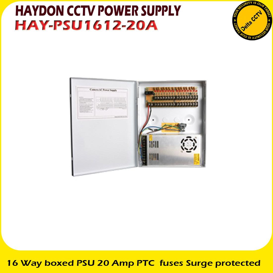Haydon 16 Way Boxed PSU 20 Amp PTC Fuses Surge