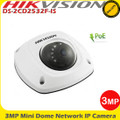 Hikvision DS-2CD2532F-IS 3MP 4mm fixed lens 10m IR Built in Audio PoE IP Mini Dome Camera