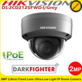 Hikvision 2MP 2.8mm fixed lens 30m IR ultra-low light internal IP Network Dome camera - (DS-2CD2125FWD-I/GREY)