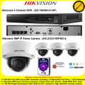 Hikvision 4 Channel NVR DS-7604NI-K1/4P Kit With 4 x 5MP 2.8mm fixed lens 30m IR WDR Indoor IP Dome Cameras DS-2CD2155FWD-I & 1TB WD Purple Surveillance HDD