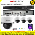 Hikvision 4 Channel NVR DS-7604NI-K1/4P Kit With 4 x 5MP 2.8mm fixed lens 30m IR WDR Indoor IP Dome Cameras DS-2CD2155FWD-I & 4TB WD Purple Surveillance HDD