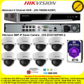 Hikvision 8 Channel NVR DS-7608NI-K2/8P Kit With 8 x 5MP 2.8mm fixed lens 30m IR WDR Indoor IP Dome Cameras DS-2CD2155FWD-I & 4TB WD Purple Surveillance HDD