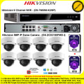 Hikvision 8 Channel NVR DS-7608NI-K2/8P Kit With 8 x 5MP 2.8mm fixed lens 30m IR WDR Indoor IP Dome Cameras DS-2CD2155FWD-I & 8TB (4TB+4TB) WD Purple Surveillance HDD
