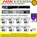 Hikvision 8 Channel NVR DS-7608NI-K2/8P Kit With 8 x 6MP 2.8mm fixed lens 30m IR WDR IP67 IP Turret Cameras DS-2CD2363G0-I & 4TB WD Purple Surveillance HDD