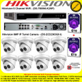 Hikvision 8 Channel NVR DS-7608NI-K2/8P Kit With 8 x 6MP 2.8mm fixed lens 30m IR WDR IP67 IP Turret Cameras DS-2CD2363G0-I & 12TB (6TB+6TB) WD Purple Surveillance HDD