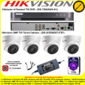 Hikvision 4 Channel Turbo 4.0 Full HD TVI DVR DS-7204HQHI-K1 Kit With 4 x 2MP 2.8mm lens 40m IR Turret Camera DS-2CE56D0T-IT3F & 1TB WD Purple Surveillance HDD