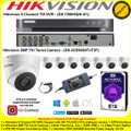 Hikvision 8 Channel Turbo 4.0 Full HD TVI DVR DS-7208HQHI-K1 Kit With 8 x 2MP 2.8mm lens 40m IR Turret Cameras DS-2CE56D0T-IT3F & 6TB WD Purple Surveillance HDD