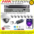 Hikvision 8 Channel Turbo 4.0 Full HD TVI DVR DS-7208HQHI-K1 Kit With 8 x 2MP 2.8mm lens 20m IR Vandal-proof Indoor Dome Cameras DS-2CE56D8T-VPIT & 6TB WD Purple Surveillance HDD