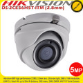 Hikvision 5MP Ultra-Low Light 2.8mm fixed lens 20m IR IP67 EXIR TVI Turret Camera - DS-2CE56H5T-ITM