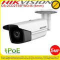 Hikvision  5MP 6mm fixed lens 50m IR IP67  PoE IP Network Bullet Camera - DS-2CD2T55FWD-I5