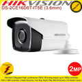 Hikvision 2MP 3.6mm fixed lens 80m IR Full HD1080p IP66 PoC Bullet Camera - DS-2CE16D0T-IT5E