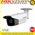 Hivision 5MP 2.8mm fixed lens 80m IR distance IP67 WDR IP Network Bullet Camera - DS-2CD2T55FWD-I8