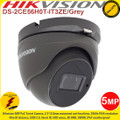 Hikvision 5MP 2.7mm - 13.5mm motozied vari-focal lens 40m IR IP67 EXIR PoC Turret Camera - DS-2CE56H0T-IT3ZE/GREY