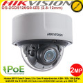 Hikvision 2MP Varifocal IP Network Dome Camera with 2.8 to 12 mm motor-driven lens, 30m IR Distance, 140dB WDR, IK10, PoE,- DS-2CD5126G0-IZS