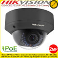 Hikvision 2MP VF WDR IP Network Dome Camera with 2.8 mm to 12 mm Motorized Lens, IR Range 30 Meters, IP66 and IK10 Protection, PoE, - DS-2CD2722FWD-IZS/Black