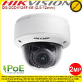 Hikvision 2MP CMOS Vandal-proof Indoor IP Network Dome Camera with 2.8 to 12mm varifocal lens , 30m IR distance, Smart Defog, PoE, - DS-2CD4124F-IM