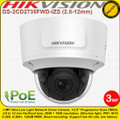Hikvision 3MP 2.8 to 12mm Vari-focal  lens 30m IR Distance  WDR EXIR IP67 IK10  Network Dome Camera - DS-2CD2735FWD-IZS