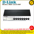 D-LINK 8-PORT SMART POE SWITCH WITH 72W POWER BUDGET - (DES-1210-08P)