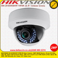 Hikvision 2MP 2.8~12mm vari-focal lens 30m IR Switchable TVI/AHD/CVI/CVBS Dome Camera - DS-2CE56D0T-VFIR