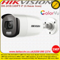 Hikvision 2MP 3.6mm fixed lens 40m IR full time colour TVI/ CVI/ AHD Bullet Camera - DS-2CE12DFT-F