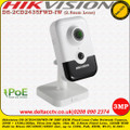 Hikvision DS-2CD2435FWD-IW 3MP 2.8MM Fixed Lens 10m IR Ultra-low light Built-in Micro SD/SDHC/SDXC slot, up to 128G PoE Wi-Fi EXIR Network Cube Camera