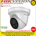 Hikvision DS-2CD2327G1-LU 2MP 2.8mm Fixed Lens 30m IR IP66 Built-in micro SD Card Slot ColorVu IP Network Turret Camera