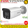 Hikvision DS-2CD2T47G1-L 4 MP 2.8mm fixed Lens Built-in micro SD/SDHC/SDXC slot, up to 128G IP67 IP Network ColorVu Bullet Camera