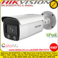 Hikvision DS-2CD2T47G1-L 4 MP 6mm fixed Lens IP67 Built-in micro SD/SDHC/SDXC slot, up to 128G IP Network ColorVu Bullet Camera