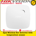 Ajax FIREPROTECT - WHITE Wireless fire detector with temperature sensor the additional detector registers temperature increase in the room