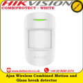 Ajax COMBIPROTECT - WHITE Wireless combined motion and glass break detector