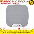 Ajax HOMESIREN - WHITE Wireless indoor siren that loudly notifies of an alarm during detector activation