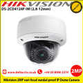 Hikvision DS-2CD4124F-IM 2MP 2.8-12mm varifocal 30m IR distance IK10 Built in Micro SD/SDHC/SDXC slot, up to 64GB Network IP Dome Camera