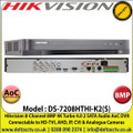 Hikvision - 8 Channel 8MP Audio Via Coaxial Cable Turbo 4.0 AoC DVR, HD-TVI, AHD, IP, CVI & Analogue Cameras Video Input, 2 SATA Interface, H.265+ Video Compression - DS-7208HTHI-K2(S)