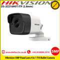 Hikvision DS-2CE16H0T-ITF 5MP 2.8mm fixed lens 20m IR IP67 EXIR TVI Outdoor Bullet Camera