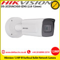 Hikvision DS-2CD5AC5G0-IZHS 12MP 2.8 to 12mm Varifocal motorized lens  50m IR WDR Alarm 2 inputs/2 outputs Built-in microSD/SDHC/SDXC card slot, up to 256 GB Bullet Network Camera