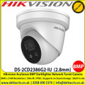 Hikvision DS-2CD2386G2-IU AcuSense 8MP 2.8mm fixed lens network turret camera with 30m IR, Darkfighter, IP66, H.265+ compression, Supports on board storage (up to 128GB) & Built in mic