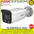 Hikvision DS-2CD2T47G1-L 4MP ColorVu 4mm Fixed Lens 30m IR Full Time Colour IP67 Network Bullet Camera, Built-in micro SD/SDHC/SDXC slot, up to 128G