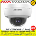 Hikvision DS-2CD2143G0-IU 4MP 2.8mm fixed lens 30m IR 120dB WDR IP66  IK10 Built-in micro SD/SDHC/SDXC card slot Built-in microphone Dome Network Camera