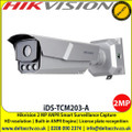 Hikvision iDS-TCM203-A 2MP ANPR Smart Surveillance Bullet Camera, Built-in ANPR engine, equipped with AI algorithm, Support vehicle type classification