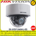 "Hikvision 2MP Varifocal Dome Network Camera, 1/1.8"" progressive scan CMOS, 2.8 to 12 mm lens, Alarm I/O, Audio I/O, RS-485, IR range: up to 30 m,"