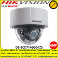 "Hikvision Darkfighter 4MP Varifocal Dome Network Camera, 1/1.8"" progressive scan CMOS, 2.8 to 12 mm lens, Alarm I/O, Audio I/O, RS-485, IR range: up to 30 m, - DS-2CD7146G0-IZS"