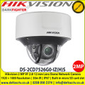 Hikvision DS-2CD7526G0-IZ(H)S 2MP IR Vari-Focal Dome Network Camera -   2.8-12mm varifocal lens, 50m IR, IP67, IK10,  Built-in microSD/SDHC/SDXC card slot, up to 256 GB