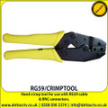 Hand crimp tool for use with RG59 cable and BNC connectors - RG59/CRIMPTOOL